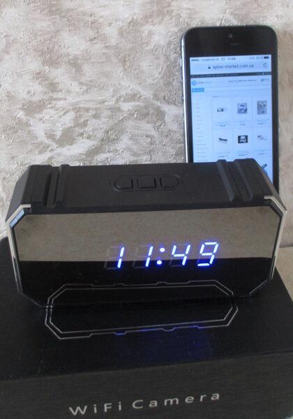 Зеркальные часы - скрытая 4К wifi шпионская камера