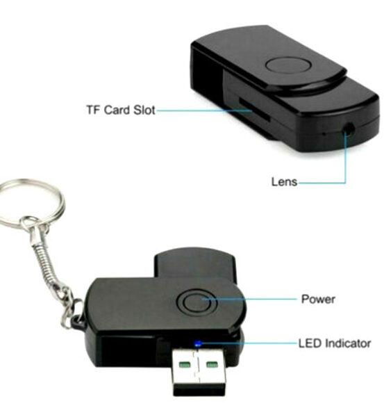 Флешка скрытая камера -  FHD 64гб